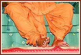 The holy feet of Swamishri